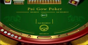 Table Pai Gow Poker